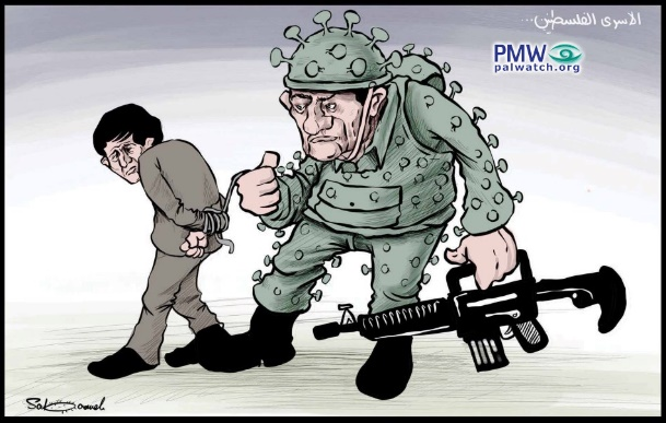 IDF as Corona virus - hate cartoon