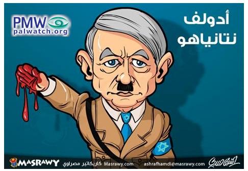 Netanyahu is Hitler - Antisemitic Fatah cartoon | PMW Analysis