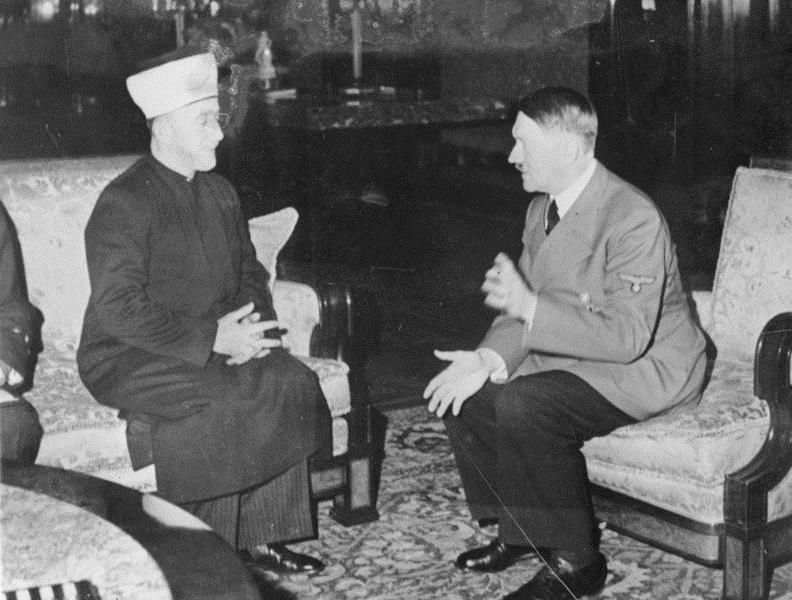 Image result for PA Mufti lays wreath on grave of Nazi collaborator Haj Amin Al-Husseini